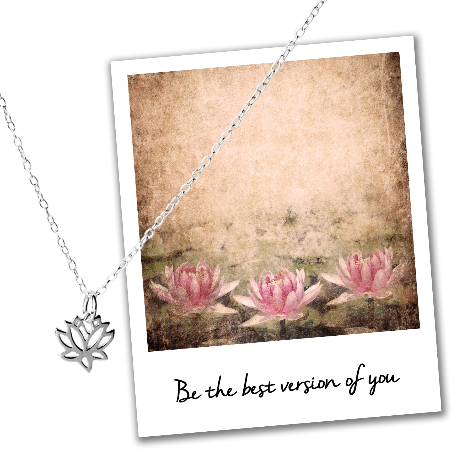 Sterling Silver Lotus Necklace Mindfulness Jewelry Jewellery Competition