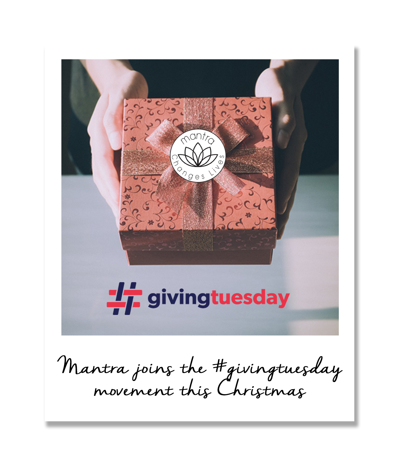 Mantra donates on giving tuesday