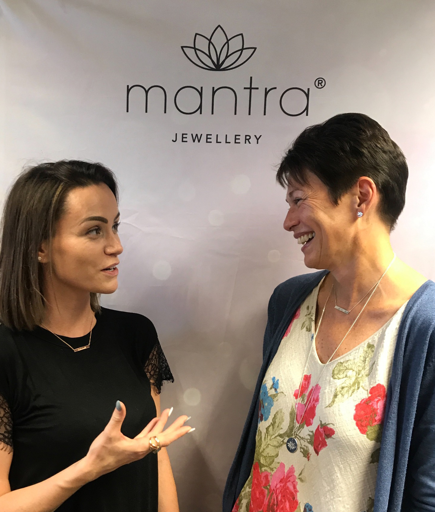 Holly Matthews with Jo Stroud from Mantra Jewellery