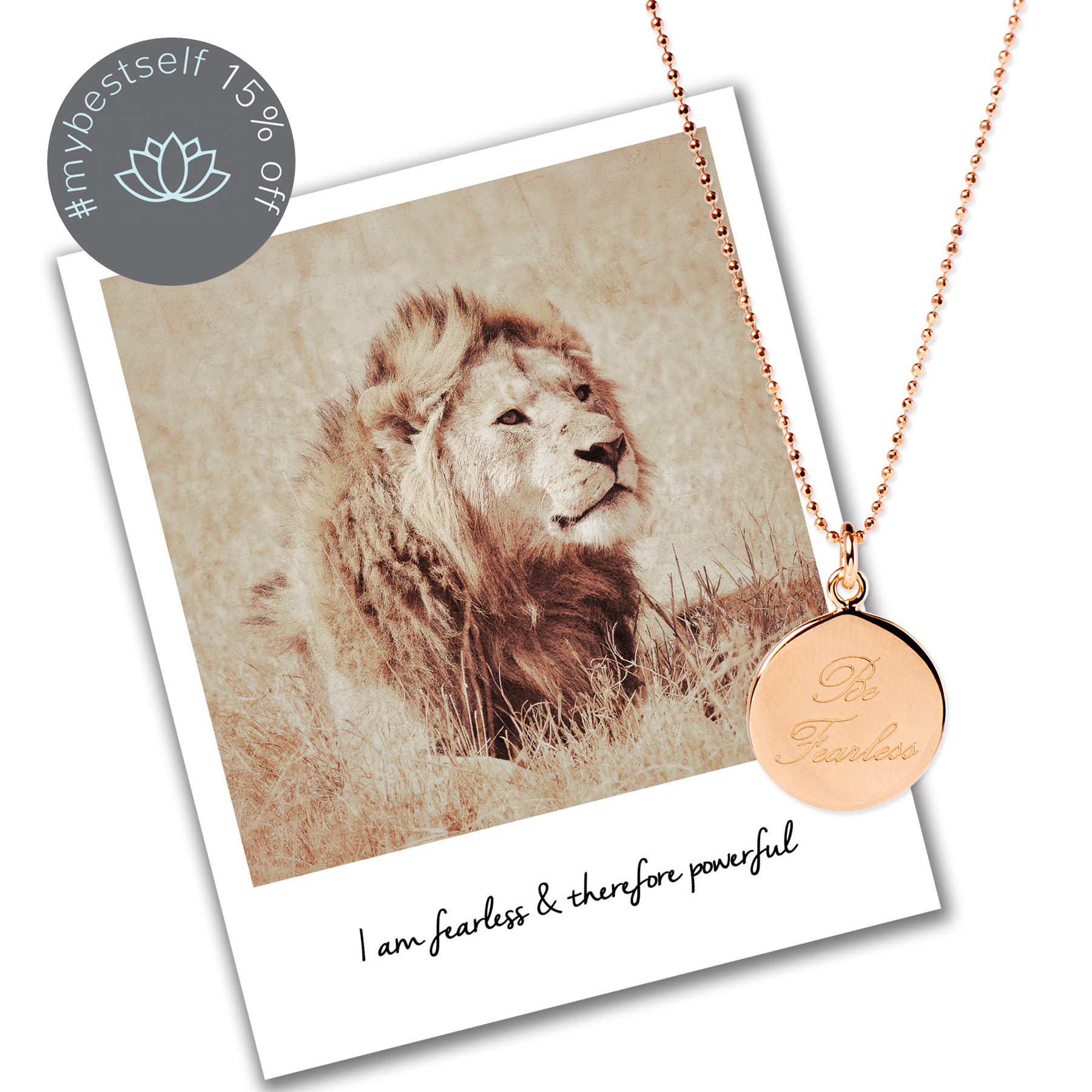 15% off Be Fearless Necklace