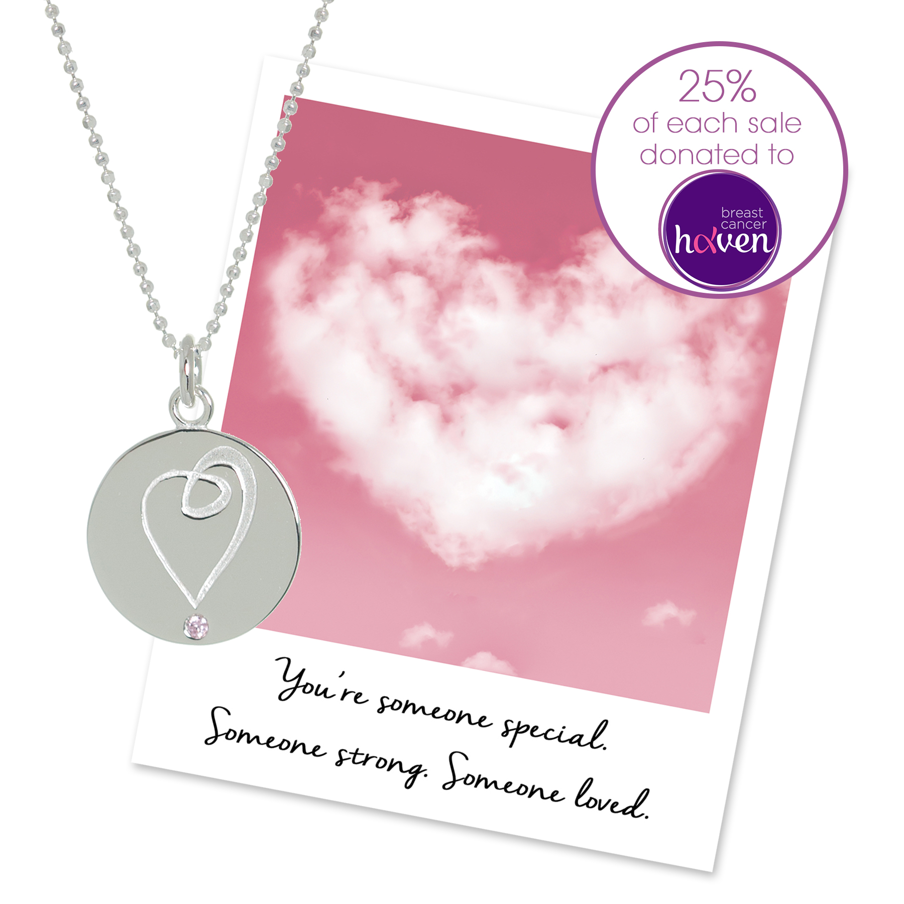 breast cancer haven necklace