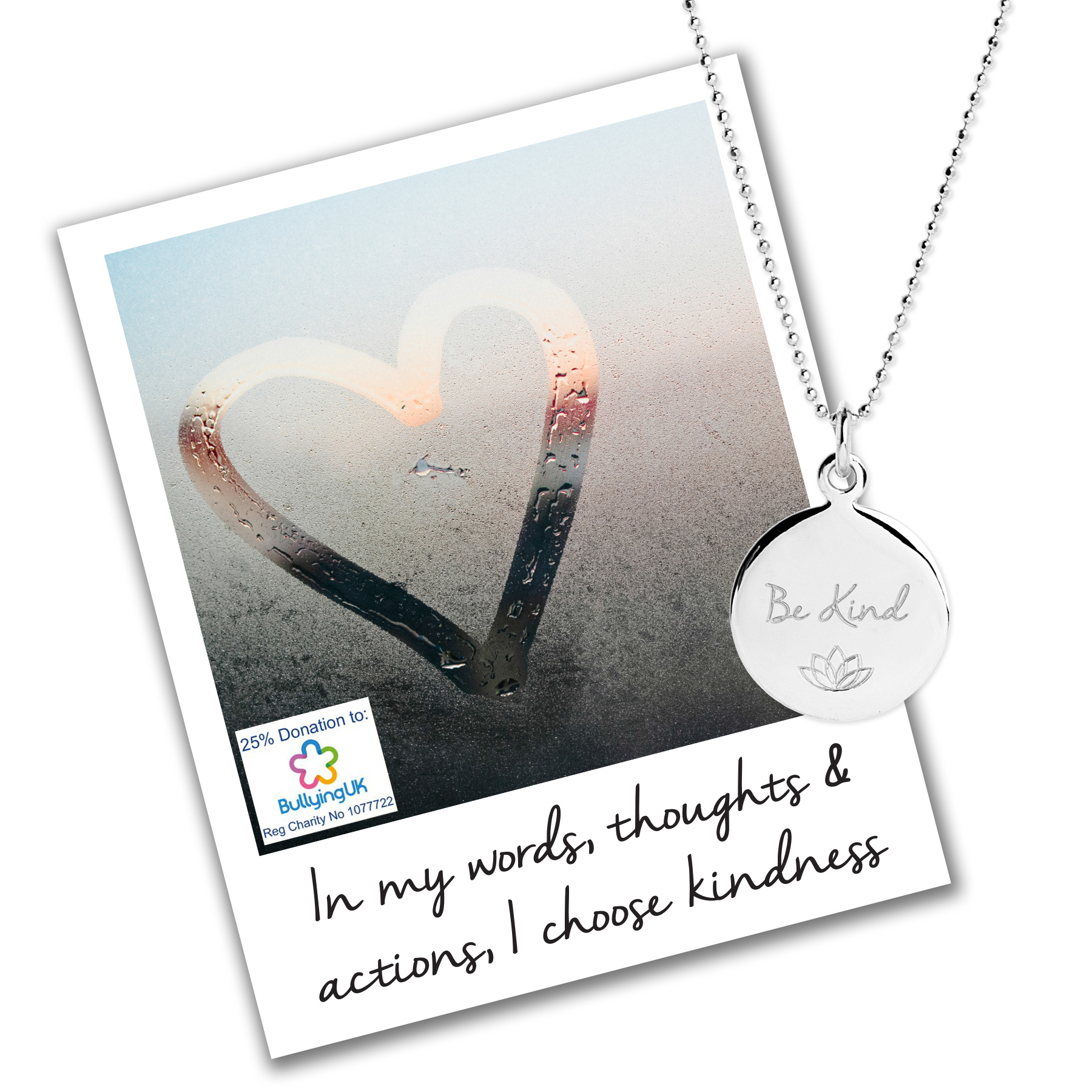 Be Kind Necklace - Bullying UK Charity