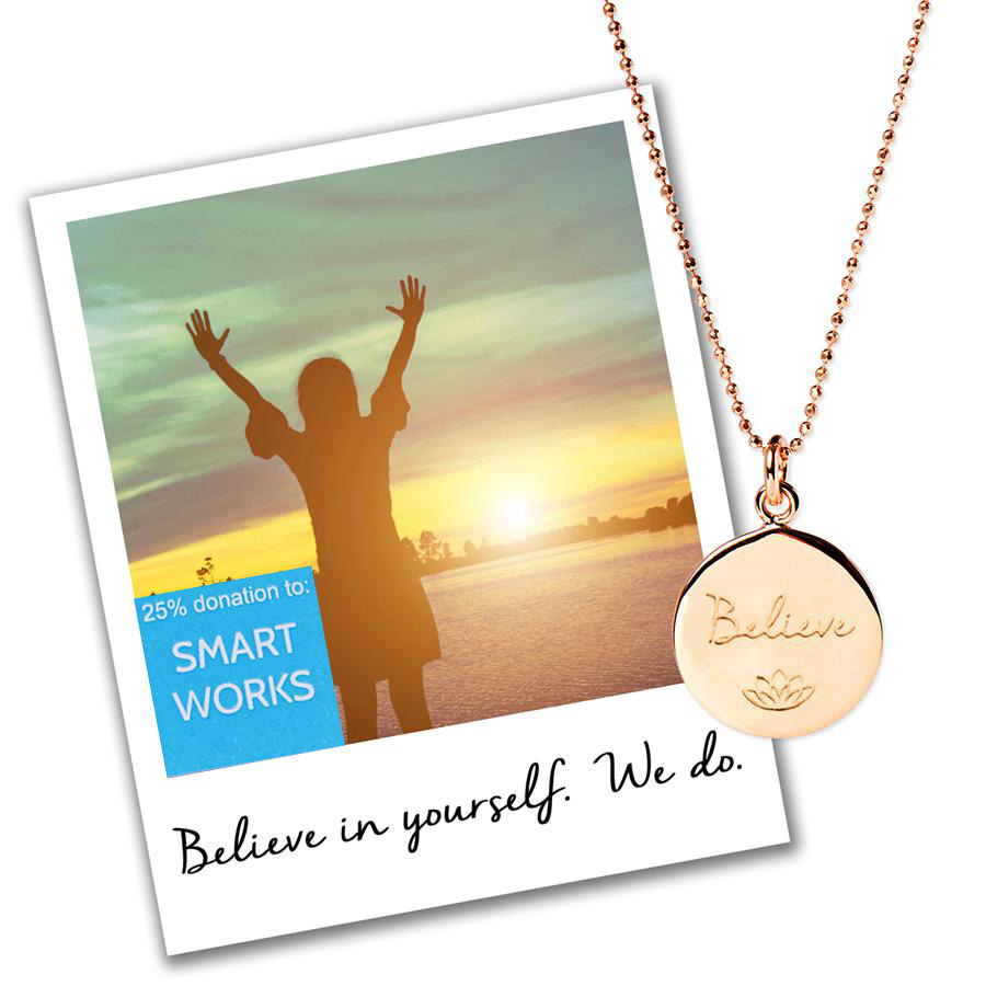 Believe Necklace - Smart Works Charity