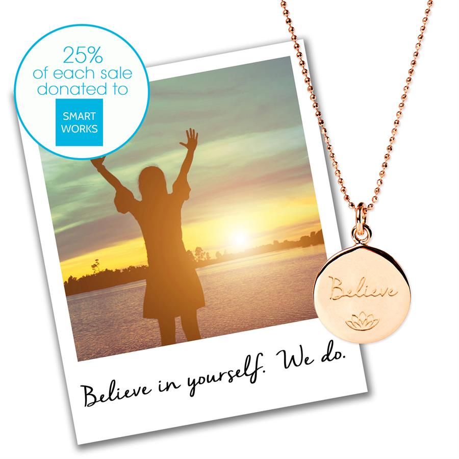 Believe Charity Necklace for Smart Works