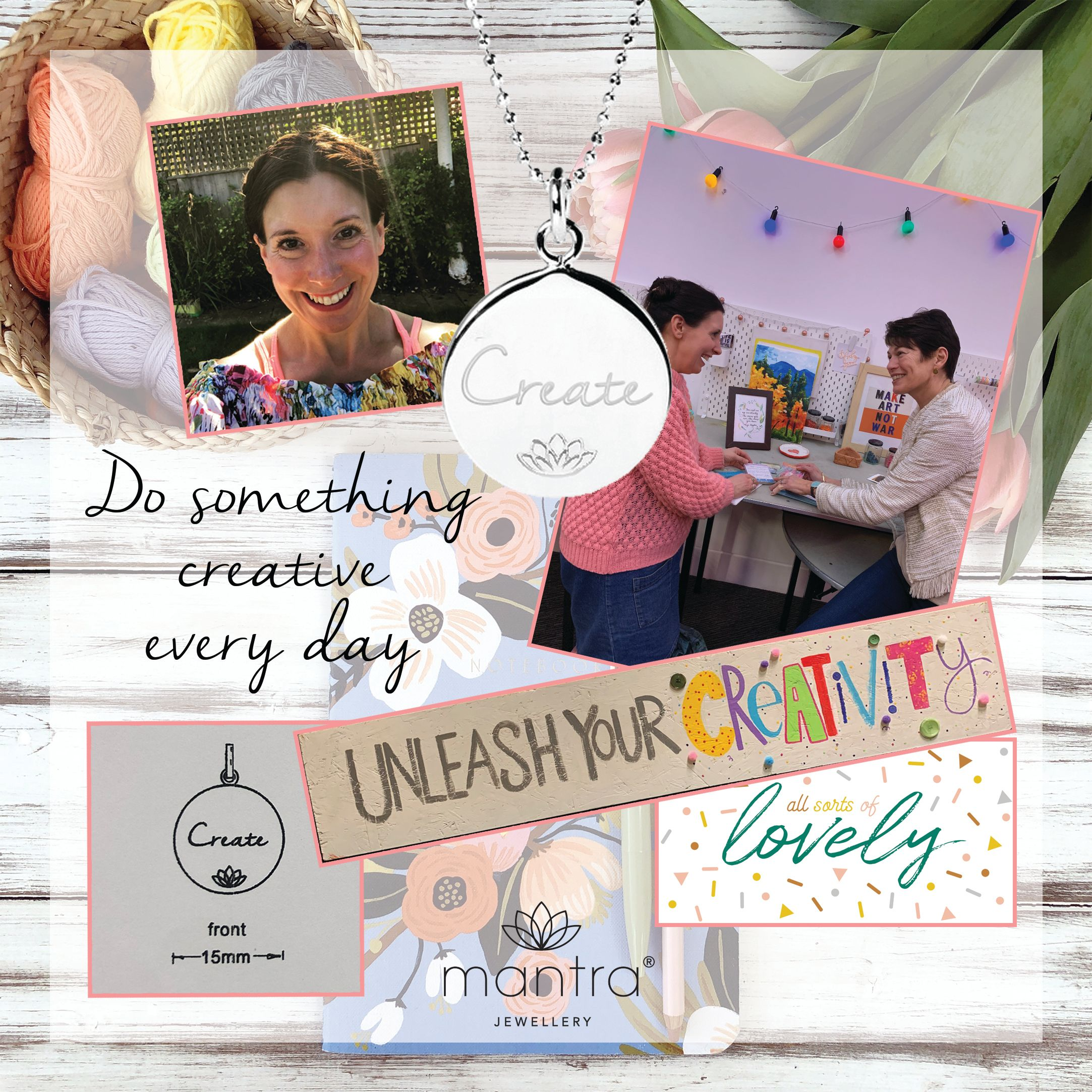 Emily Quinton Mantra Necklace Moodboard