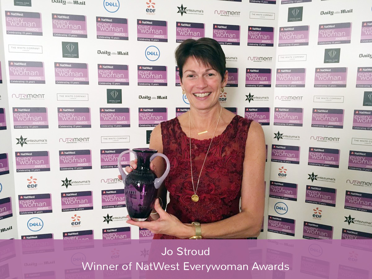 Jo Stroud - Winner of NatWest Everywoman Awards