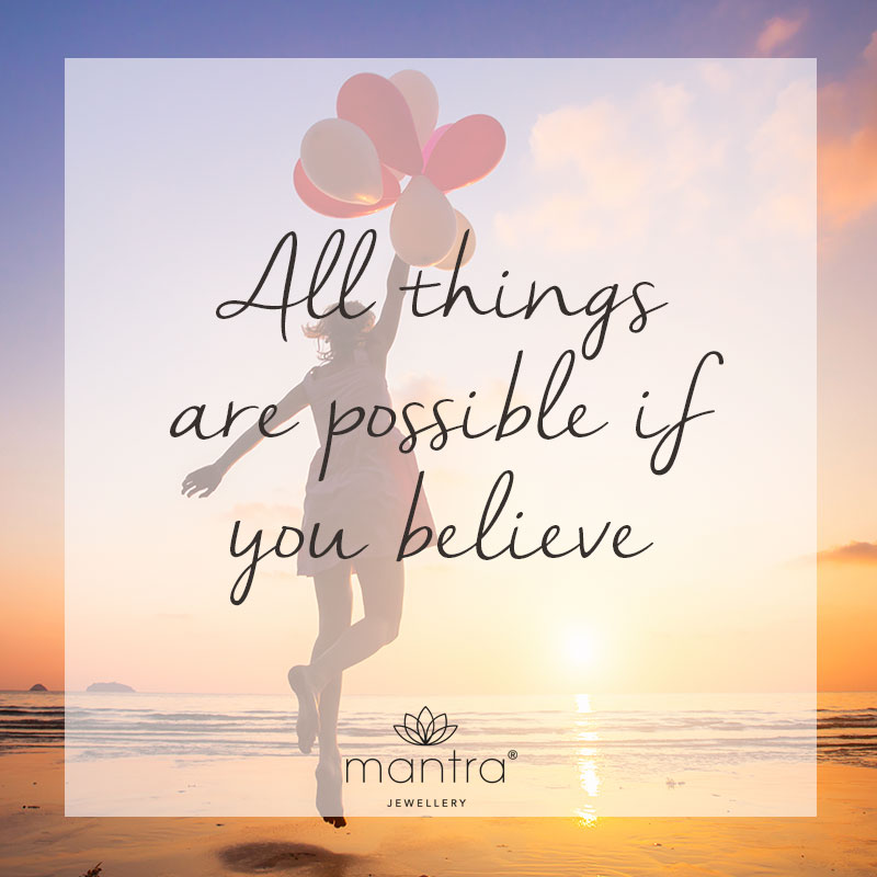 Believe Quotes - Mantra Jewellery