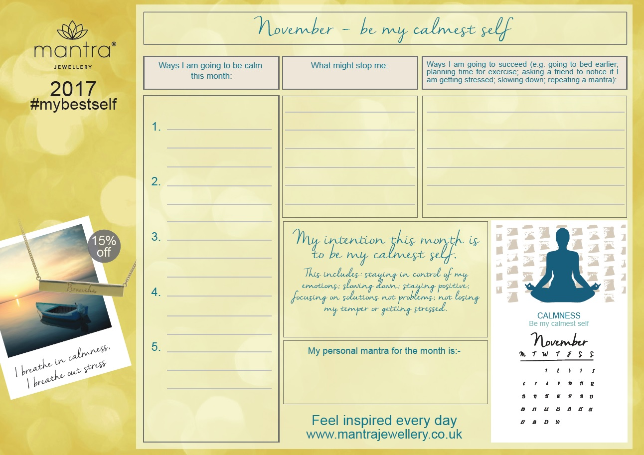 November Weekly Planner - FREE Download