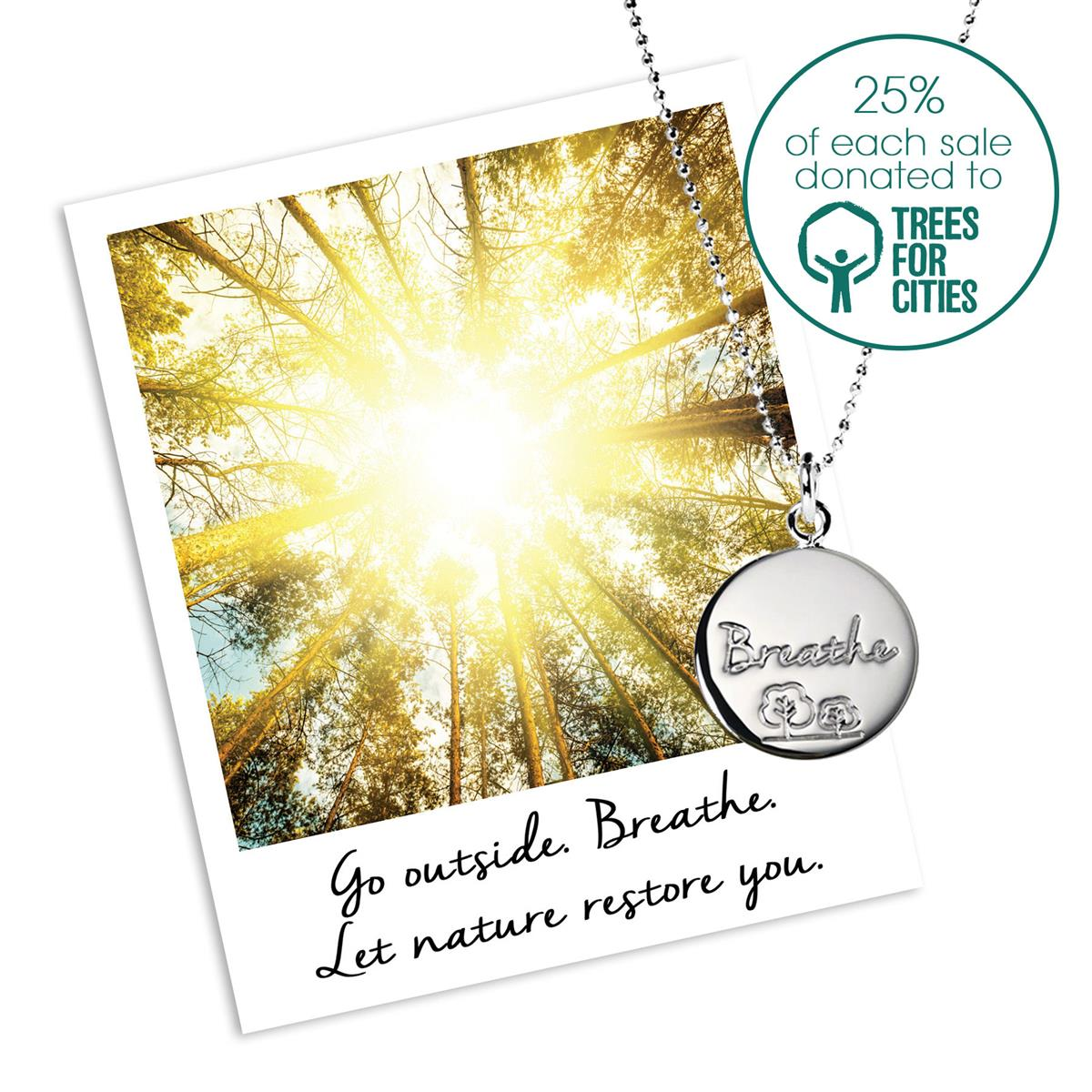 Trees for Cities Charity Necklace