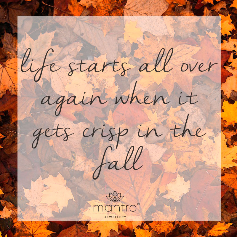 Autumn Quote - Mantra Jewellery