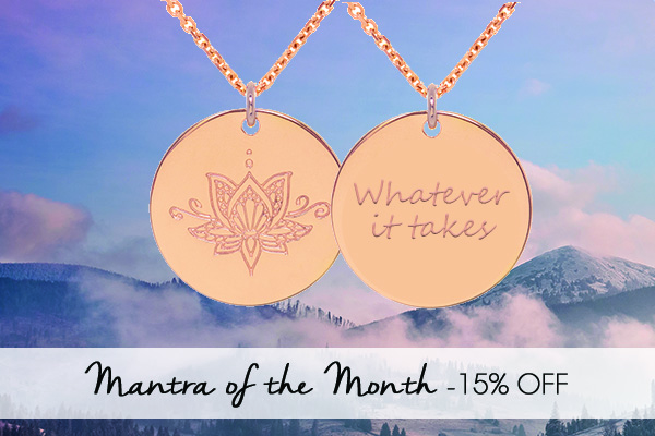 15% off Ornate Lotus Necklace