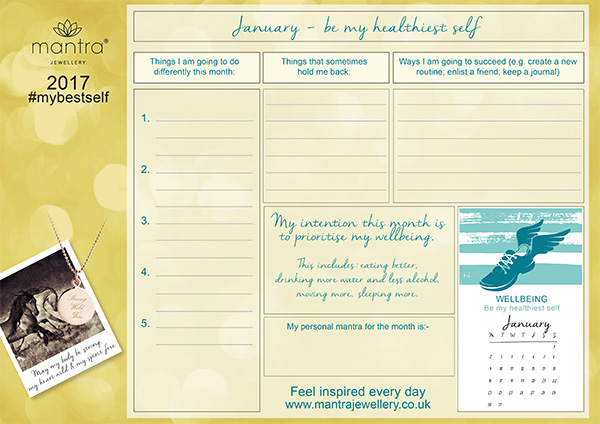 FREE Download inspirational January Planner