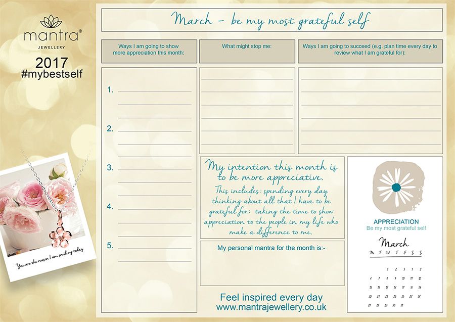 FREE Download inspirational March Planner