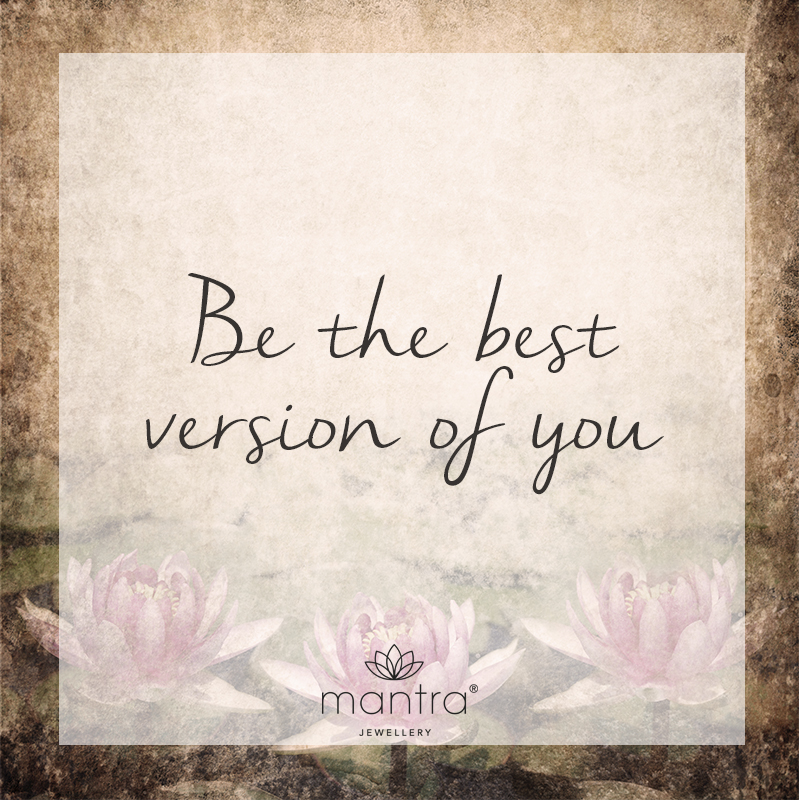be the best version of you mantra lotus jewellery