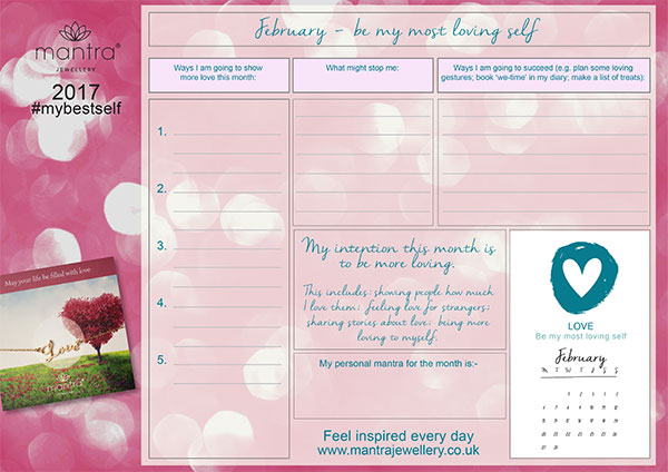 FREE Download inspirational February Planner