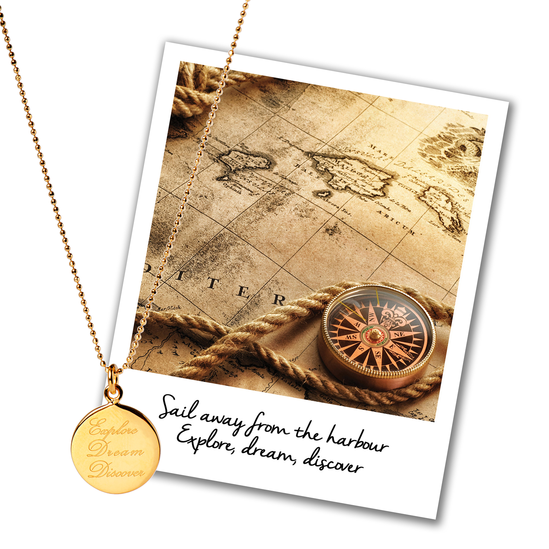 explore dream discover necklace mantra jewellery