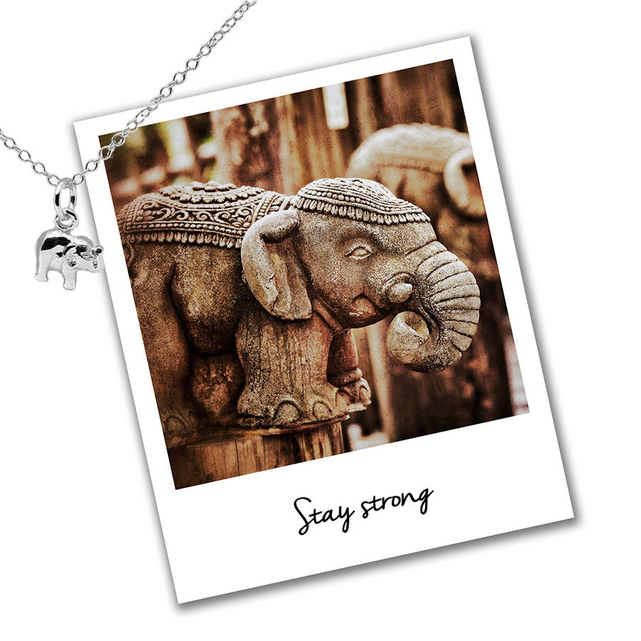elephant mantra necklace