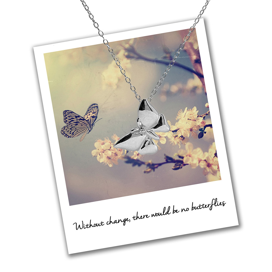 Butterfly change necklace
