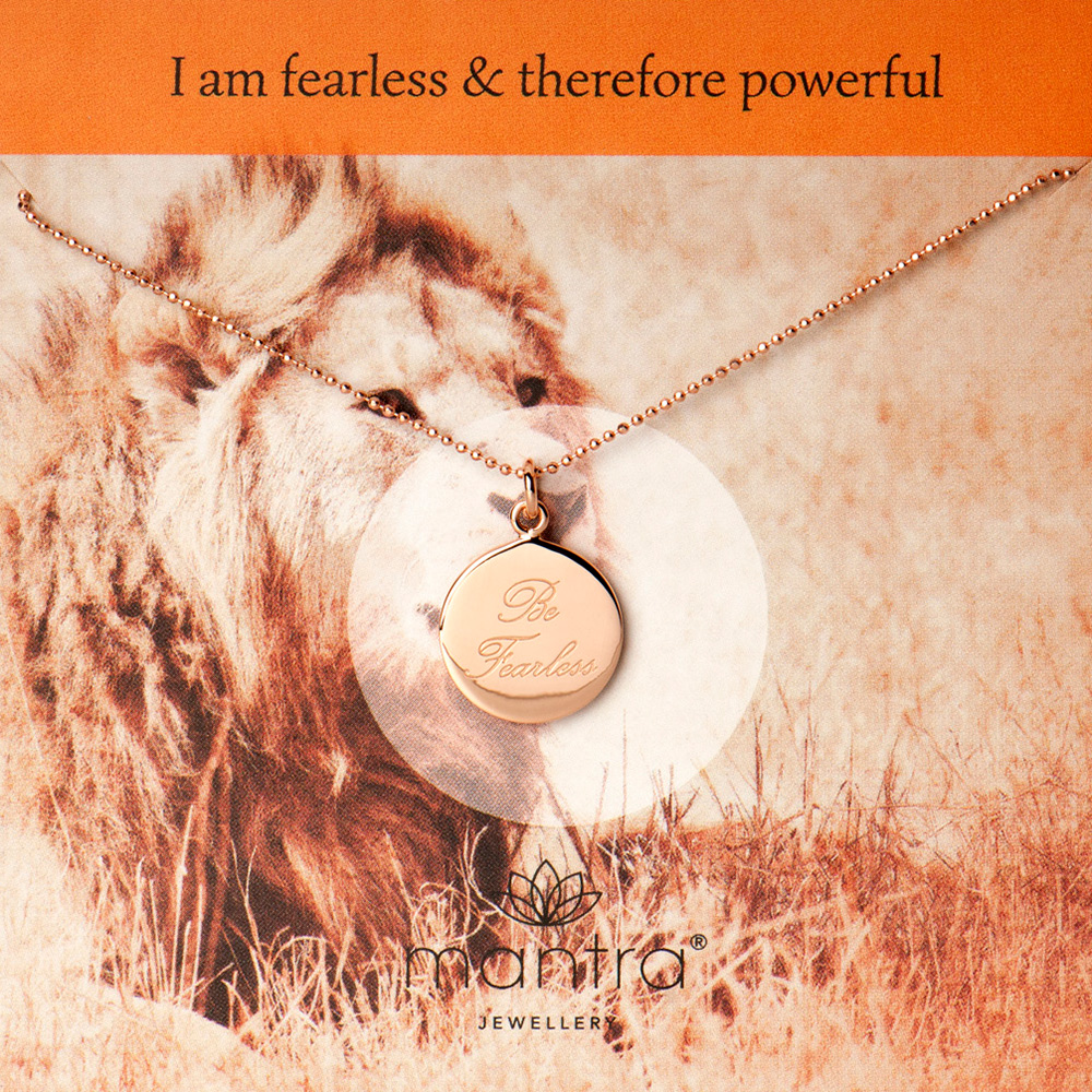 be fearless necklace