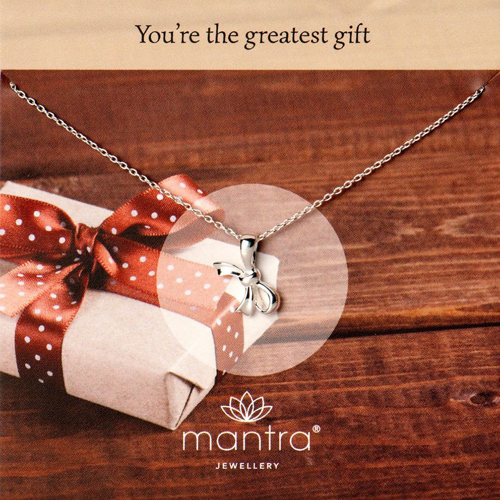 Teachers' Gifts Bow Necklace