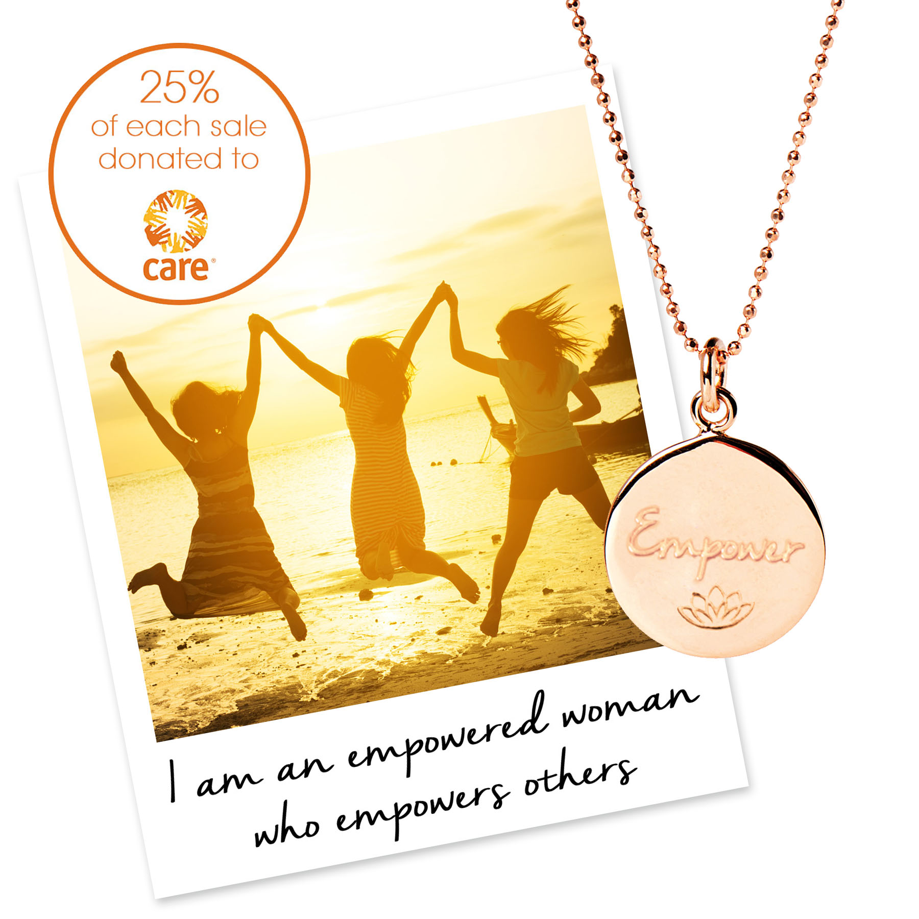 charity necklace for care international