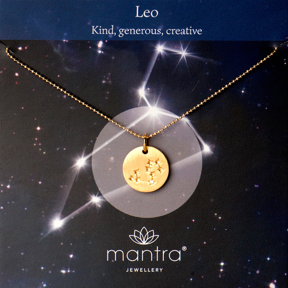 leo star map necklace