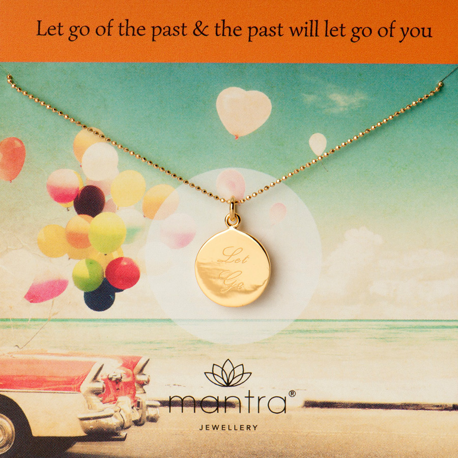 let go mantra necklace