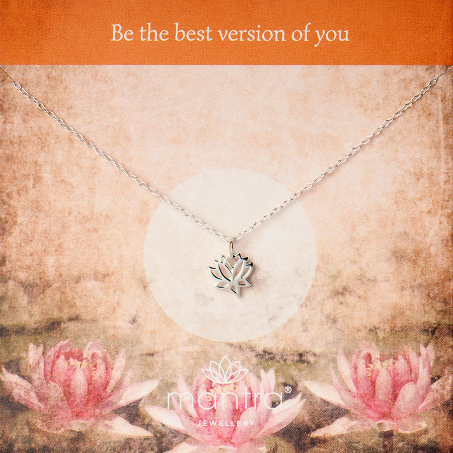 lotus necklace mantra jewellery