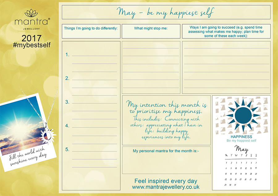 FREE Download inspirational May Planner