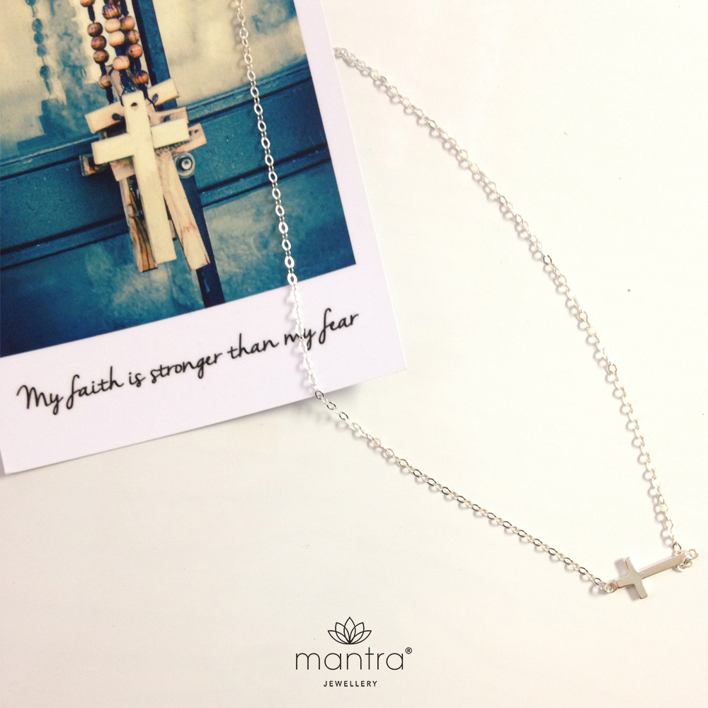 cross mantra necklace