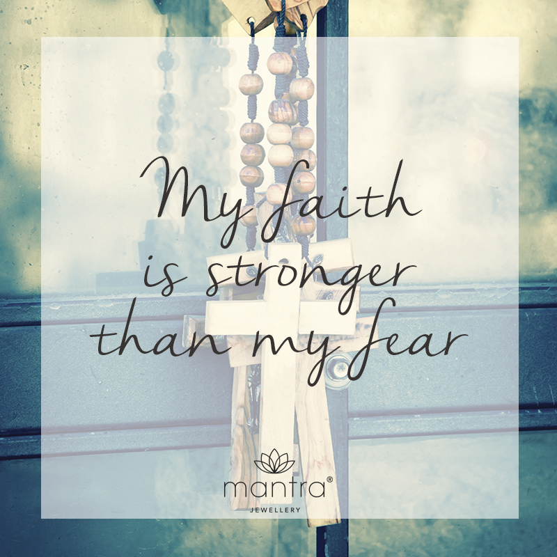 My faith is stronger than my fear necklace