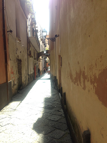 Peaceful alleyway in Sorrento