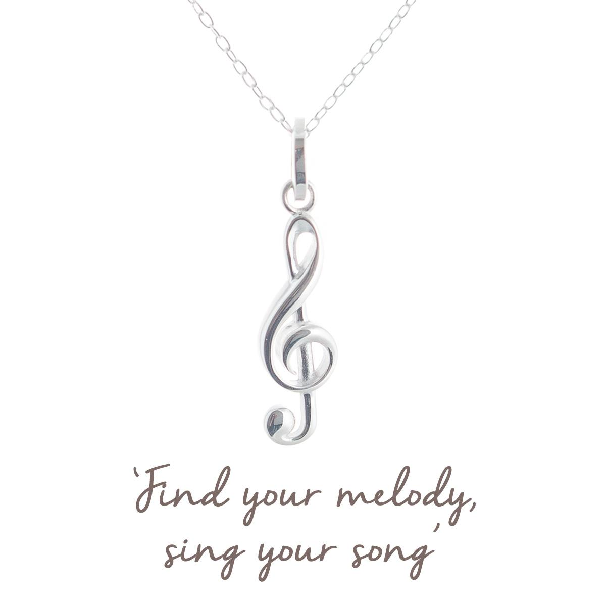 modern muse treble clef charity necklace