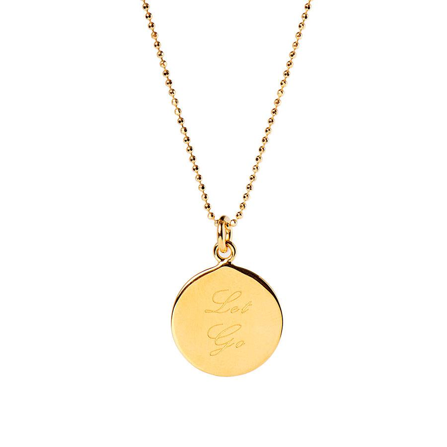 Gold Let Go Necklace