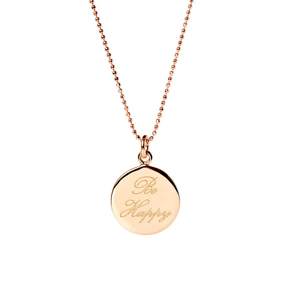 Rose Gold Be Happy Necklace