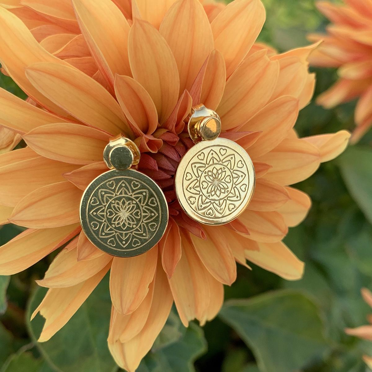 Love Mandala Earrings Photoshoot