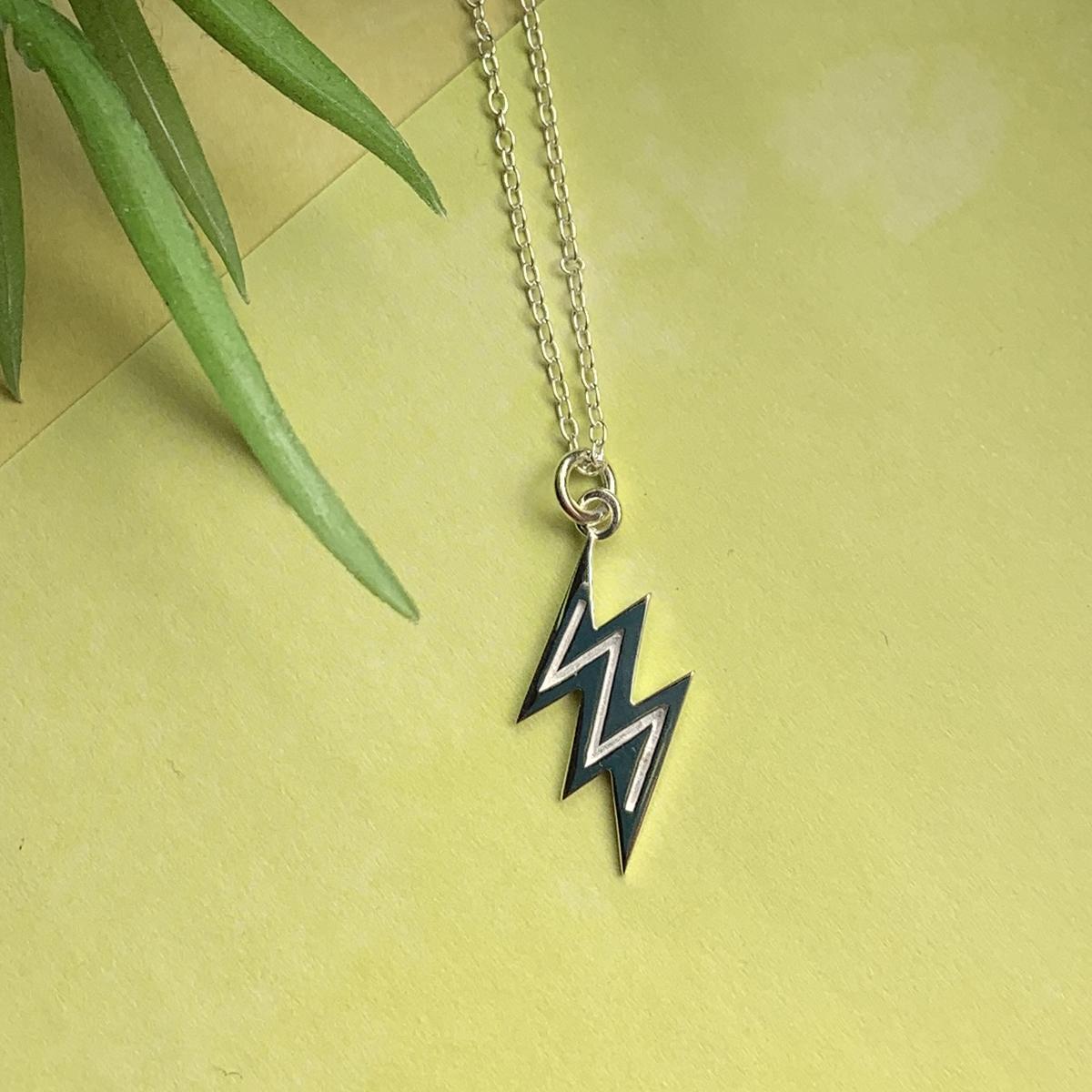 Lightning bolt Necklace Photoshoot