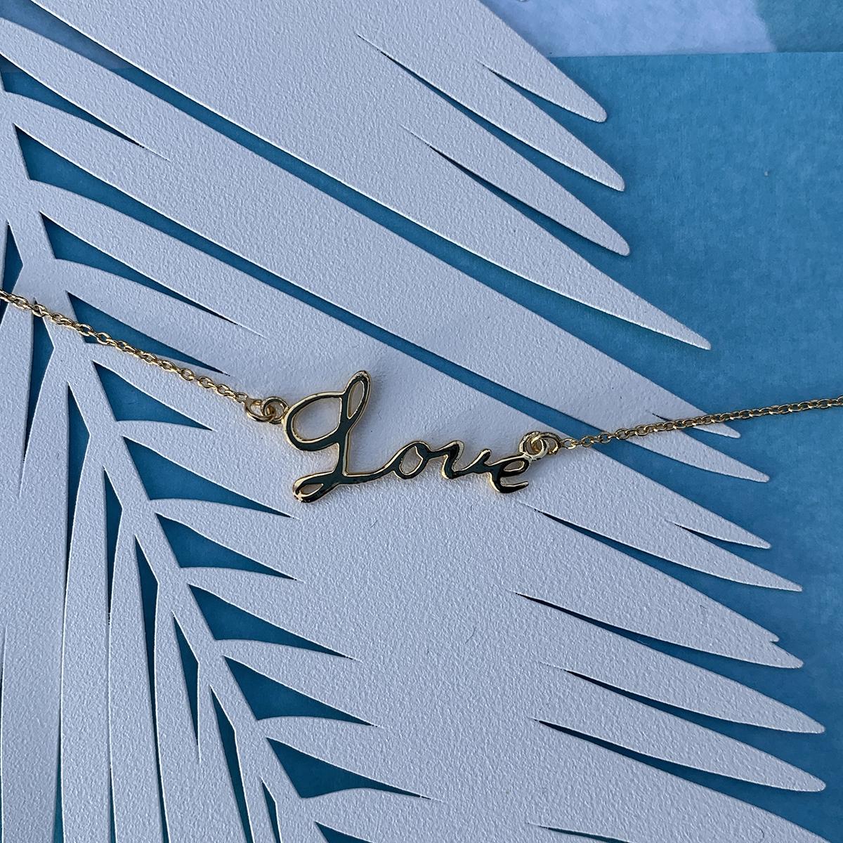 Love Script Bracelet Photoshoot