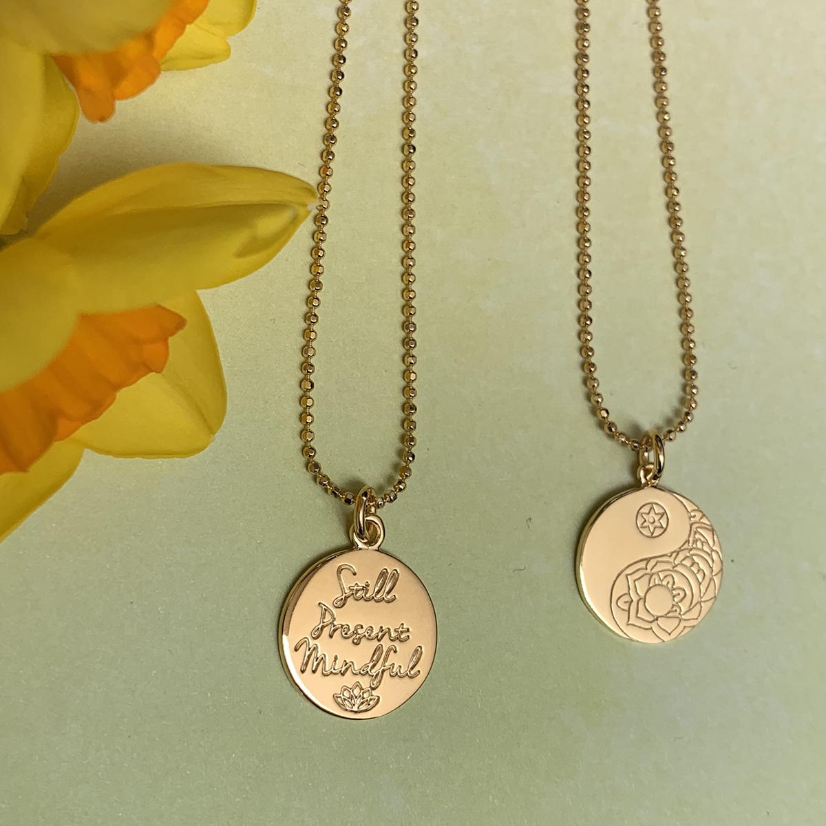 Rose Gold Mantra Necklaces