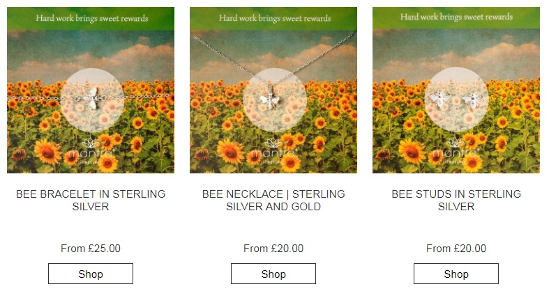Sterling Silver Bumblebee Jewellery
