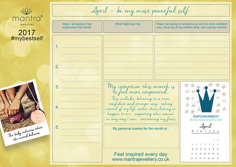 FREE Download inspirational April Planner