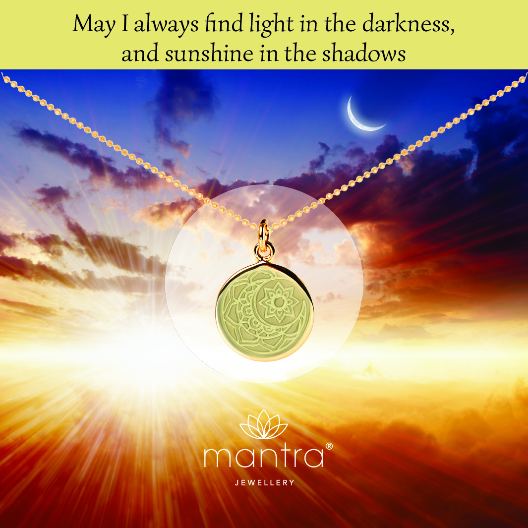 Moon and sun Mantra Necklace