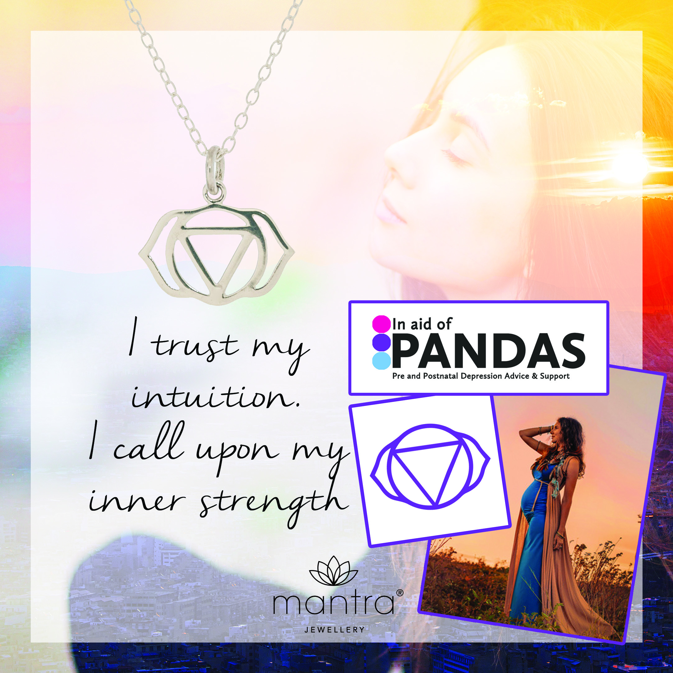 Third Eye Chakra Necklace for PANDAS Charity