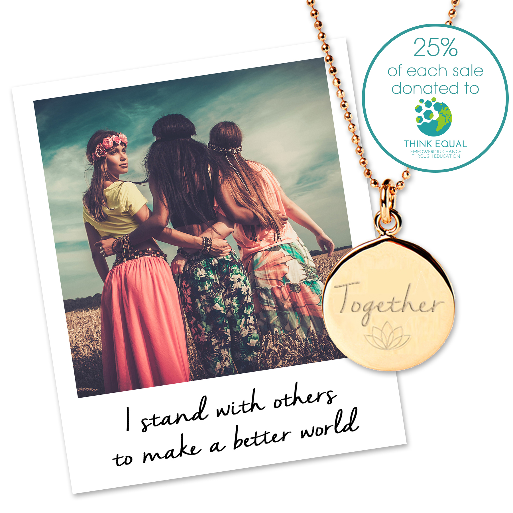 Together Charity Necklace for Think Equal Charity