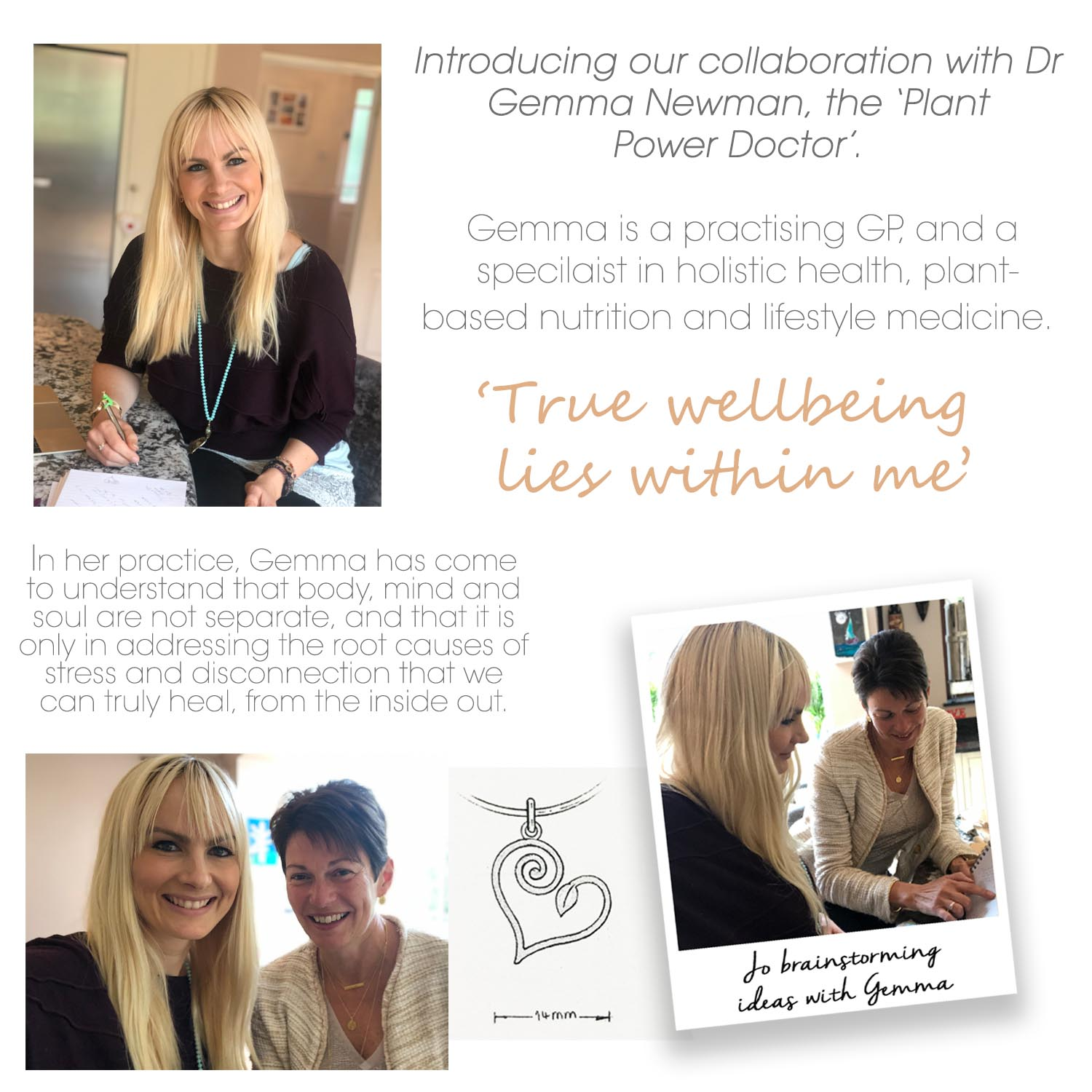 gemma newman collaboration with Mantra Jewellery