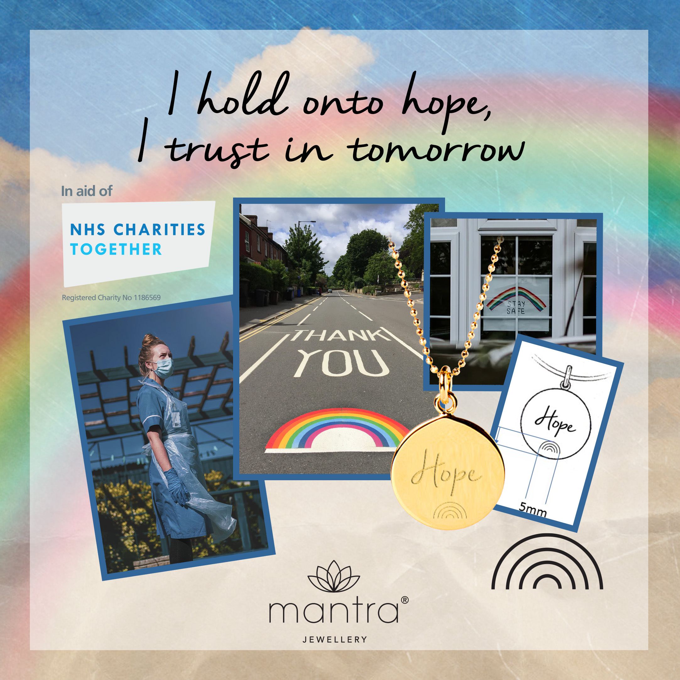 Inspiration behind Hope Rainbow Charity Necklace for NHS Charities Together