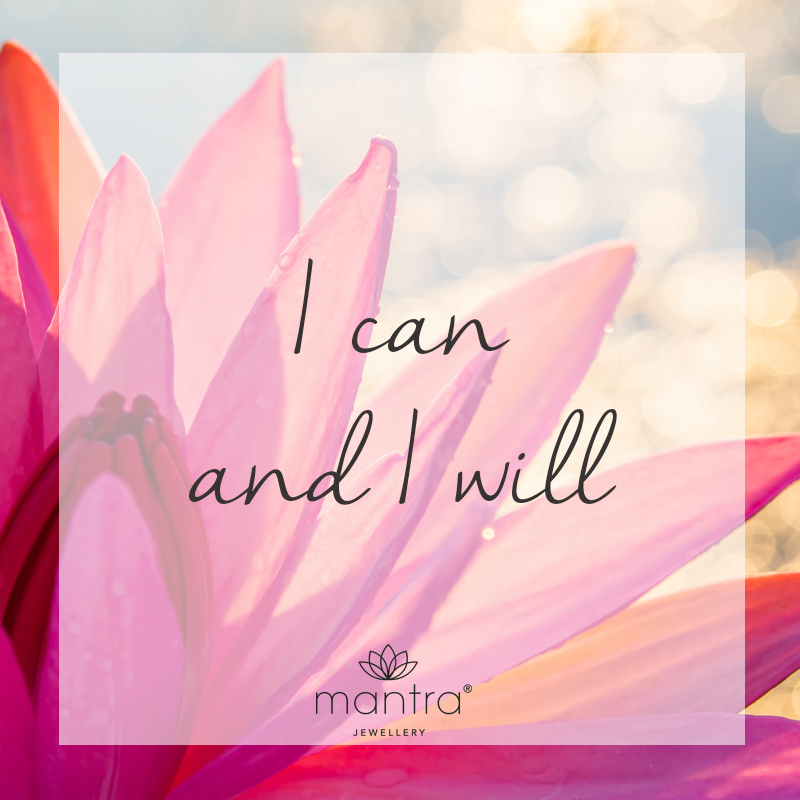 I can and I will mantra Quote