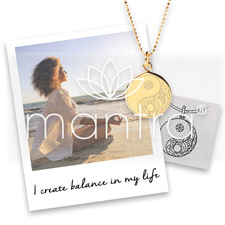 mantra balance necklace