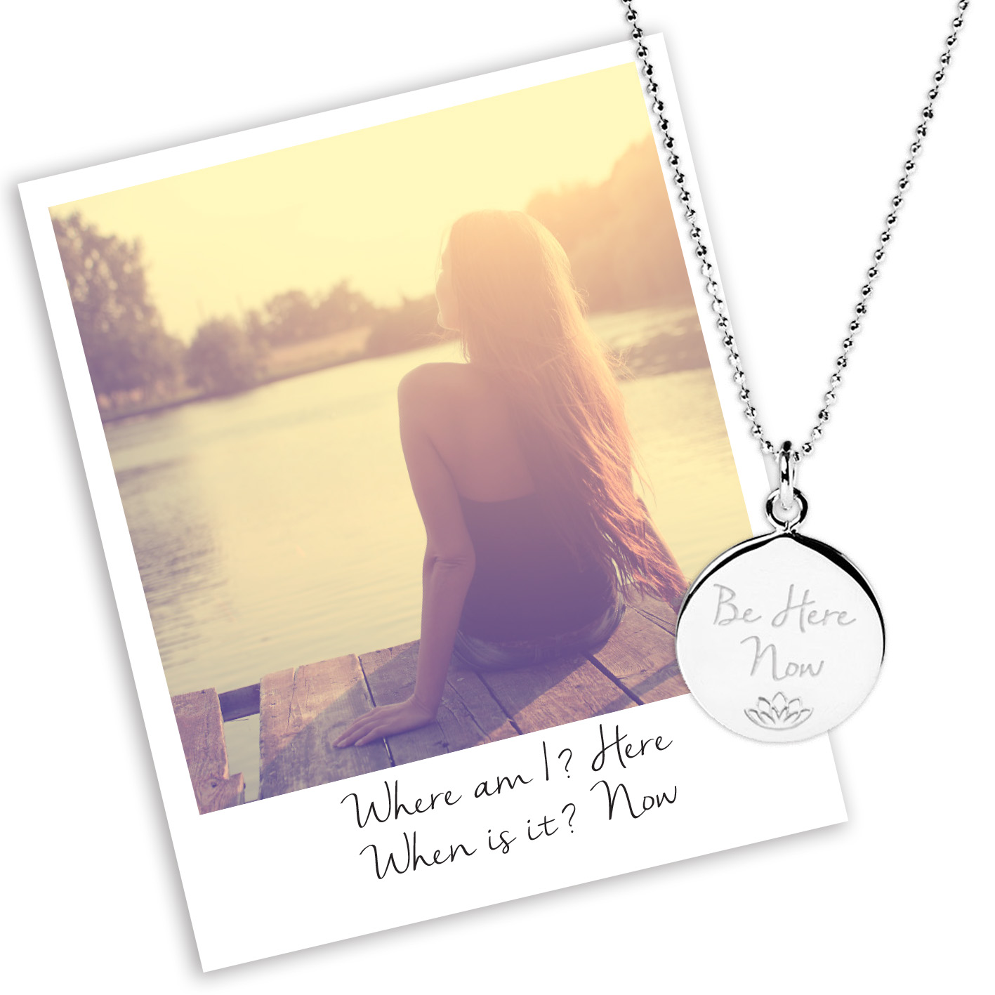 be here now necklace