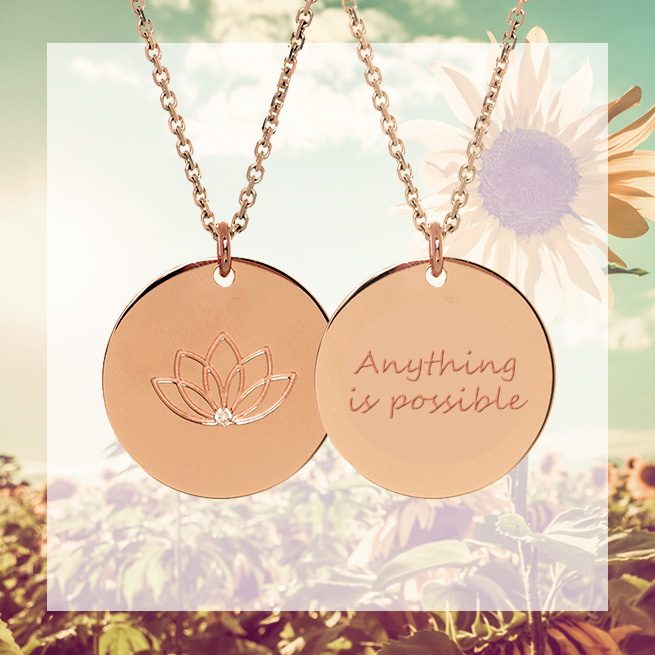 15% off personalised myMantra necklace